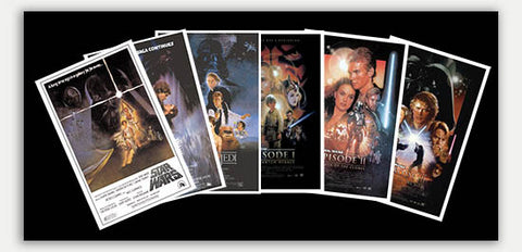 "Star Wars Episodes 1 - 6 (6 Pack) - 17"" x 11""  Movie Poster"