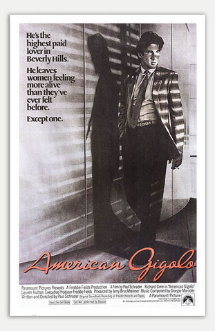 "American Gigolo - 11"" x 17""  Movie Poster"