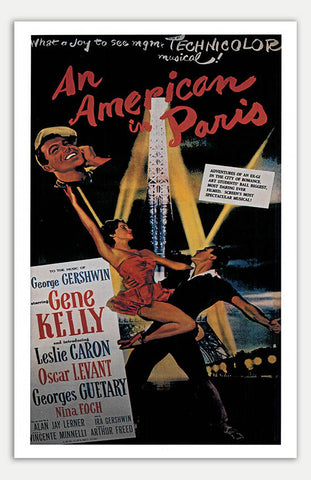 "American In Paris - 11"" x 17""  Movie Poster"