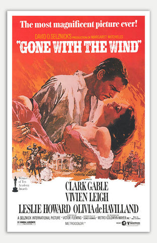 "Gone with the wind - 11"" x 17""  Movie Poster"