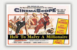 "How To Marry A Millionaire - 17"" x 11"" Movie Poster"