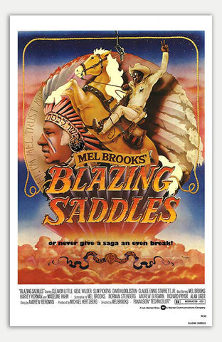 "Blazing Saddles - 11"" x 17""  Movie Poster"