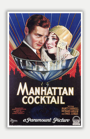 "Manhattan Cocktail - 11"" x 17"" Movie Poster"