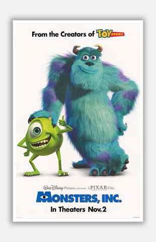 "Monsters, Inc - 11"" x 17"" Movie Poster"