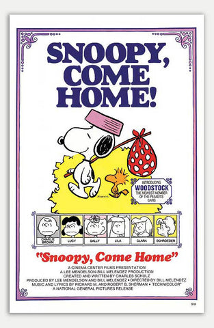 "Snoopy come home - 11"" x 17""  Movie Poster"
