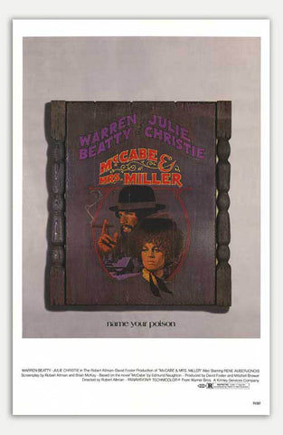 "McCabe and Mrs. Miller - 11"" x 17""  Movie Poster"