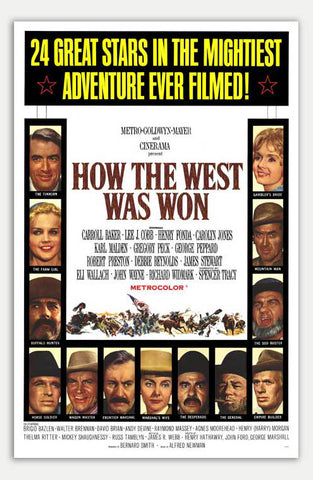 "How the west was won - 11"" x 17""  Movie Poster"