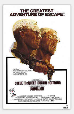 "Papillon - 11"" x 17""  Movie Poster"