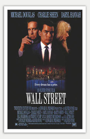 "Wall Street - 11"" x 17""  Movie Poster"