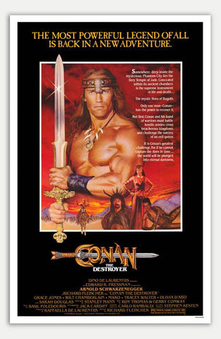 "Conan the Destroyer - 11"" x 17""  Movie Poster"