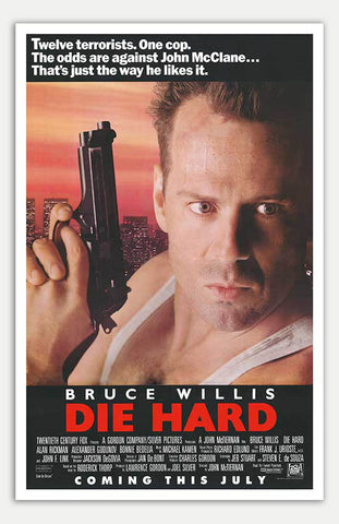 "Die Hard - 11"" x 17""  Movie Poster"