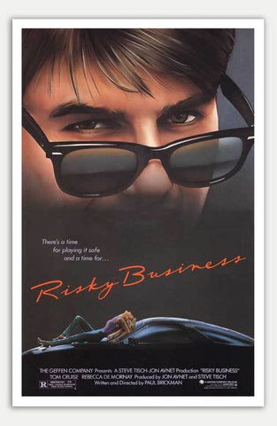 "Risky Business - 11"" x 17""  Movie Poster"