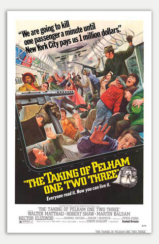 "Taking of Pelham One Two Three - 11"" x 17""  Movie Poster"