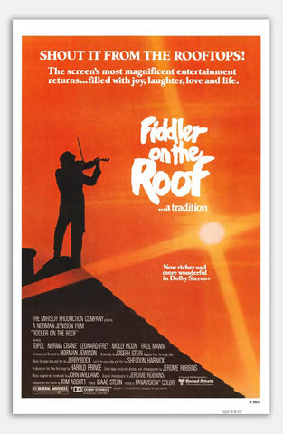 "Fiddler On The Roof - 11"" x 17""  Movie Poster"