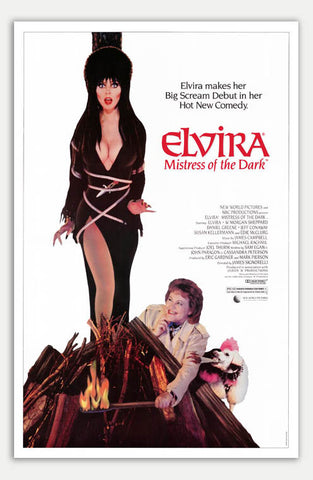 "Elvira, Mistress of the Dark - 11"" x 17""  Movie Poster"