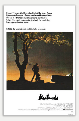 "Badlands - 11"" x 17""  Movie Poster"