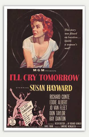 "I'll Cry Tomorrow - 11"" x 17""  Movie Poster"