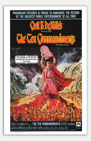 "Ten Commandments - 11"" x 17""  Movie Poster"