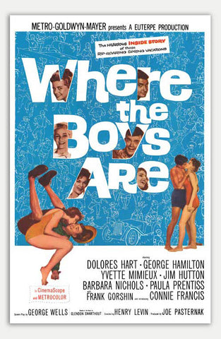 "Where the Boys are - 11"" x 17""  Movie Poster"