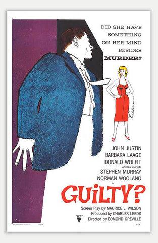 "Guilty? - 11"" x 17""  Movie Poster"