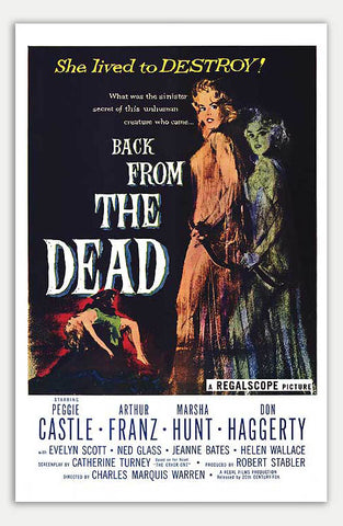 "Back from the Dead - 11"" x 17""  Movie Poster"