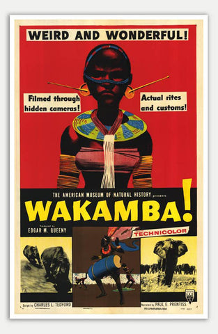 "Wakamba - 11"" x 17""  Movie Poster"