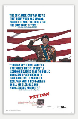 "Patton - 11"" x 17""  Movie Poster"
