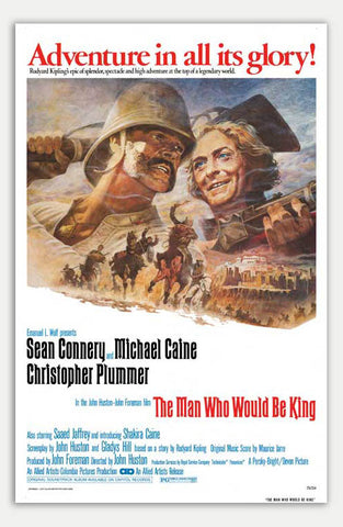 "Man who would be King - 11"" x 17""  Movie Poster"