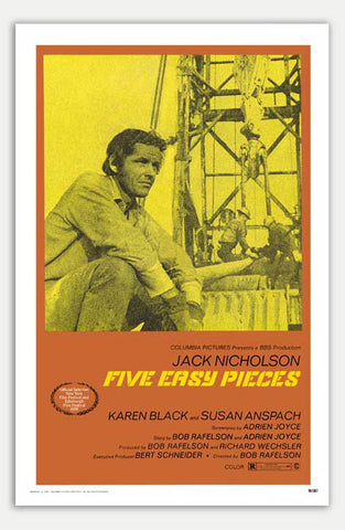 "Five Easy Pieces - 11"" x 17""  Movie Poster"