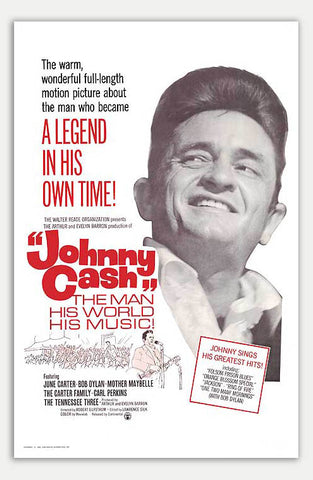 "Johnny Cash - 11"" x 17""  Movie Poster"