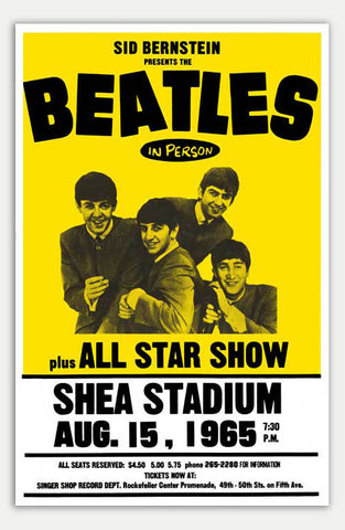 "Beatles at Shea Stadium - 11"" x 17""  Movie Poster"
