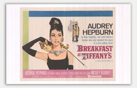 "Breakfast at Tiffany's - 17"" x 11""  Movie Poster"