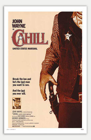 "Cahill United States Marshal - 11"" x 17""  Movie Poster"