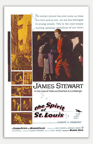 "Spirit Of St. Louis - 11"" x 17""  Movie Poster"