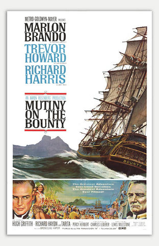 "Mutiny on the Bounty - 11"" x 17""  Movie Poster"