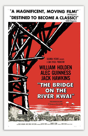"Bridge on the River Kwai - 11"" x 17""  Movie Poster"