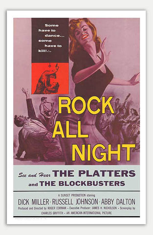 "Rock all night - 11"" x 17""  Movie Poster"
