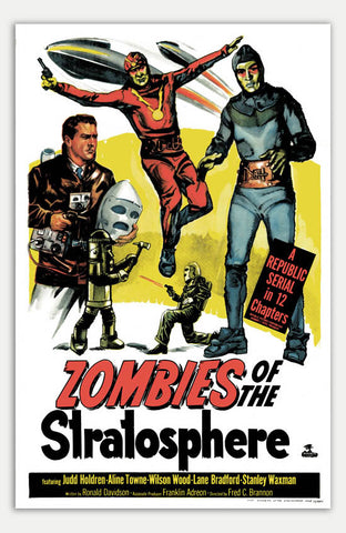 "Zombies of the Stratosphere - 11"" x 17""  Movie Poster"