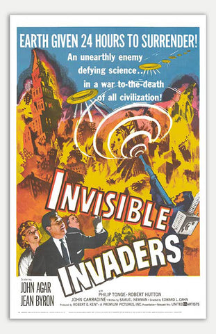"Invisible Invaders - 11"" x 17""  Movie Poster"