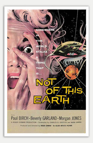 "Not Of This Earth - 11"" x 17""  Movie Poster"