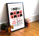 "Hard Day's Night and Help - 11"" x 17""  Movie Poster"