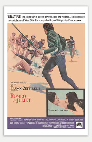 "Romeo and Juliet - 11"" x 17""  Movie Poster"