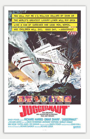 "Juggernaut - 11"" x 17""  Movie Poster"