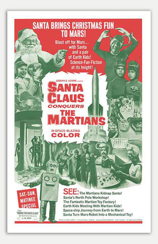 "Santa Claus Conquers the Martians - 11"" x 17""  Movie Poster"