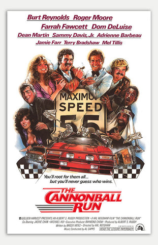 "Cannonball Run - 11"" x 17""  Movie Poster"