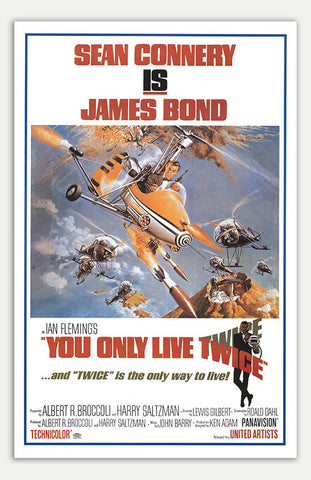 "You Only Live Twice - 11"" x 17""  Movie Poster"