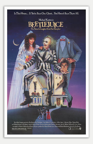 "Beetle Juice - 11"" x 17""  Movie Poster"