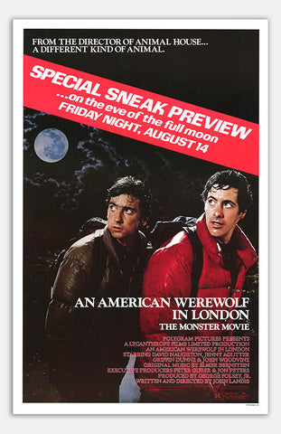 "American Werewolf In London - 11"" x 17""  Movie Poster"
