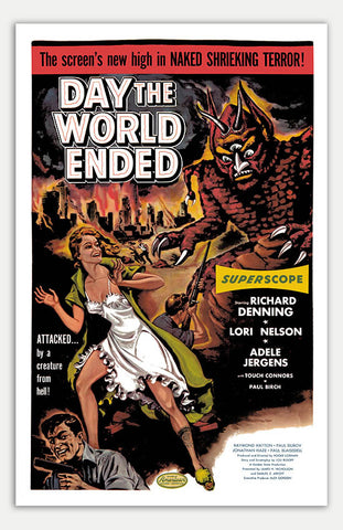 "Day the World Ended - 11"" x 17""  Movie Poster"