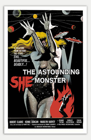 "Astounding She Monster - 11"" x 17""  Movie Poster"